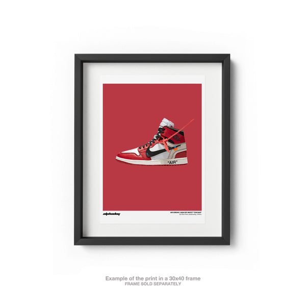 "AIR JORDAN 1 HIGH OFF-WHITE™ ""CHICAGO"" - POSTER"