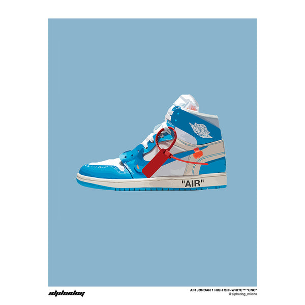 "AIR JORDAN 1 HIGH OFF-WHITE™ ""UNC"" - POSTER"