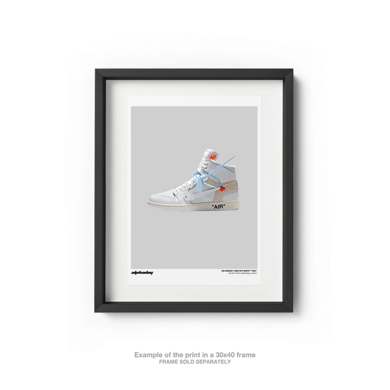 "AIR JORDAN 1 HIGH OFF-WHITE™ ""WHITE"" - POSTER"