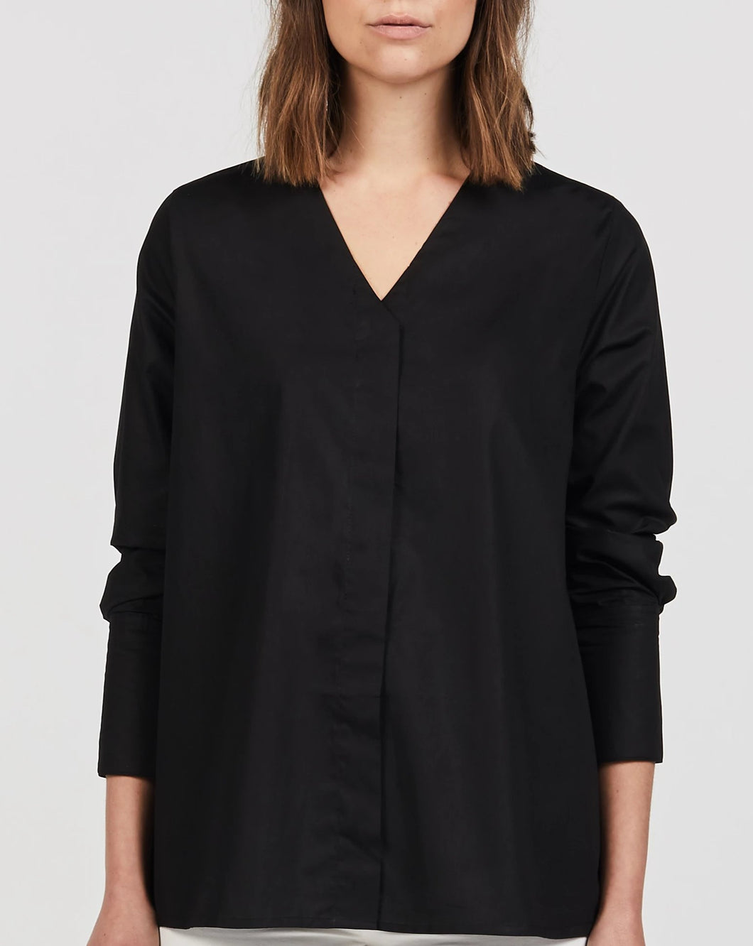 STELLA MATERNITY AND NURSING COTTON TOP BLACK FRONT