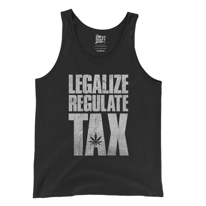 Legalize / Regulate / Tax - Unisex  Tank Top - ilovemaryjane