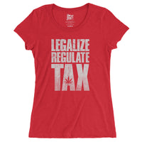 Legalize / Regulate / Tax - Womens' Vintage Style T-shirt - ilovemaryjane