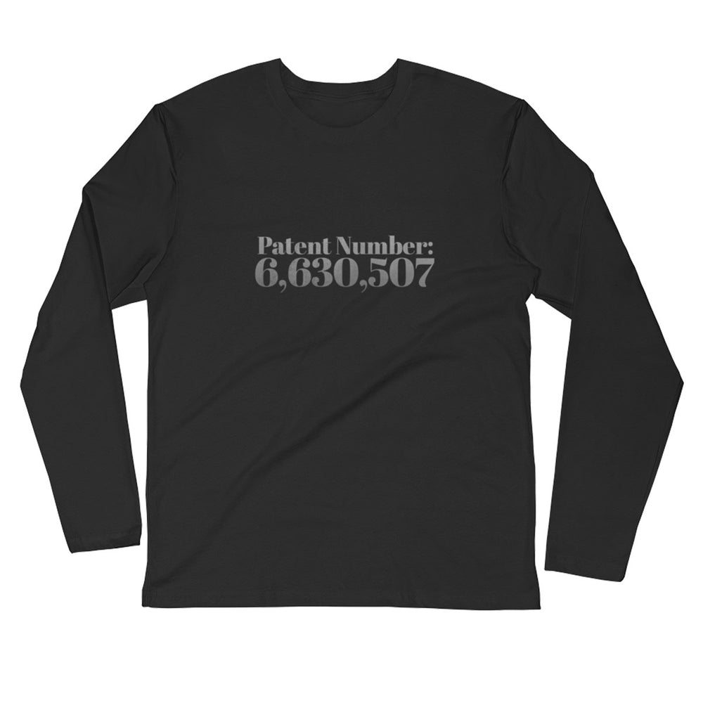 Patent # for Cannabis - Long Sleeve Fitted Crew - ilovemaryjane