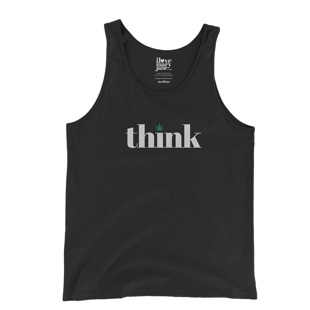 Think Cannabis - Unisex  Tank Top - ilovemaryjane