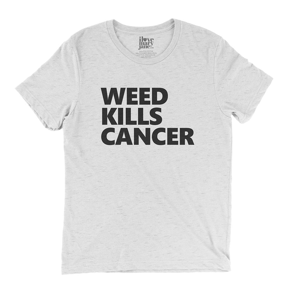 Weed Kills Cancer - Vintage Style T-shirt