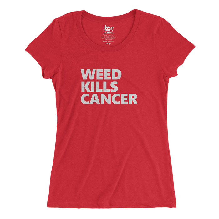 Weed Kills Cancer - Womens' Vintage Style T-shirt