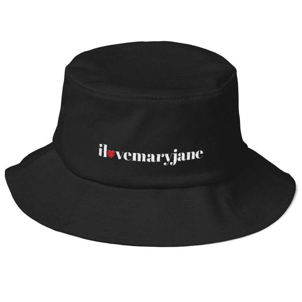 I Love Mary Jane Logo - Old School Bucket Hat - ilovemaryjane