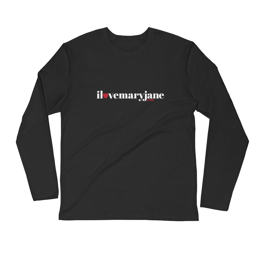 I Love Mary Jane .com Logo - Long Sleeve Fitted Crew - ilovemaryjane