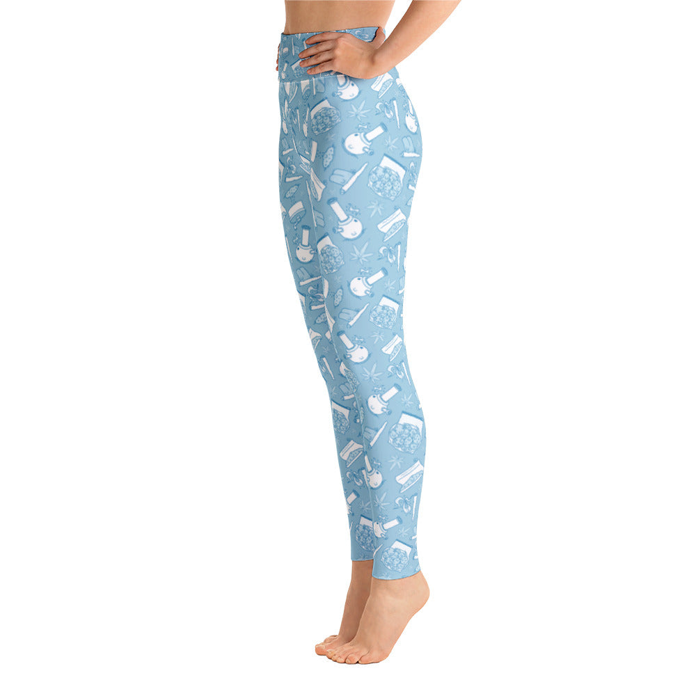 Happy Weed - Yoga Leggings - ilovemaryjane