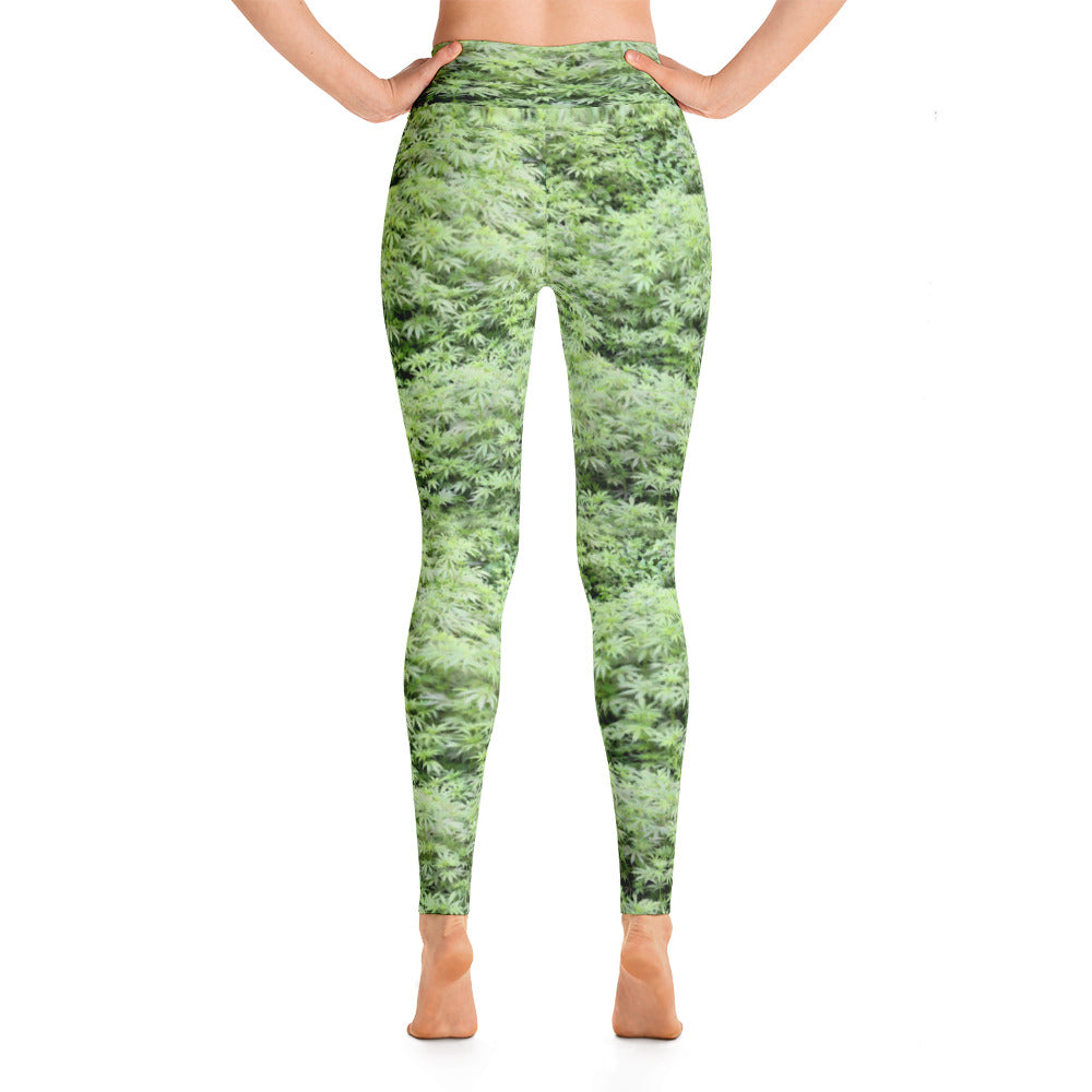 Weed Field - Yoga Leggings - ilovemaryjane