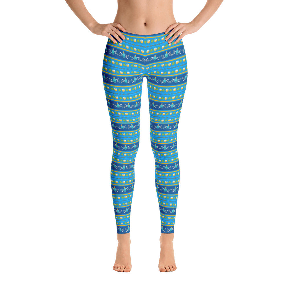 Hanukkah Ugly Sweater Leggings - ilovemaryjane