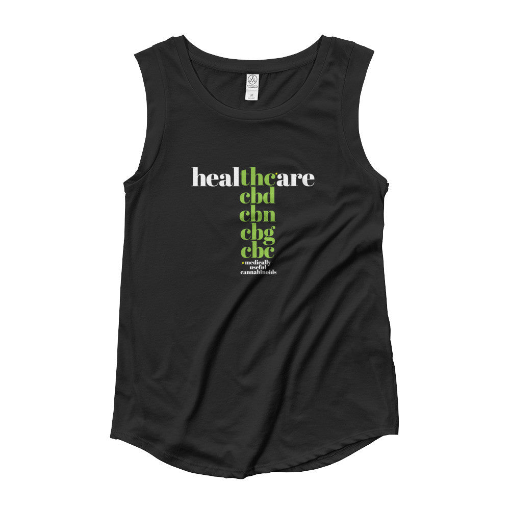 THC in Healthcare - Womens' Cap Sleeve T-Shirt - ilovemaryjane