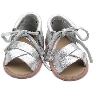 Silver Baby Shoes by Two Little Feet