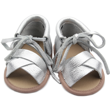 Silver Baby Shoes by Two Little Feet - Two Little Feet