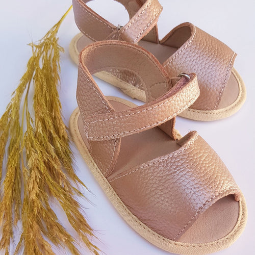 Rosie Gold Baby Sandal - Two Little Feet