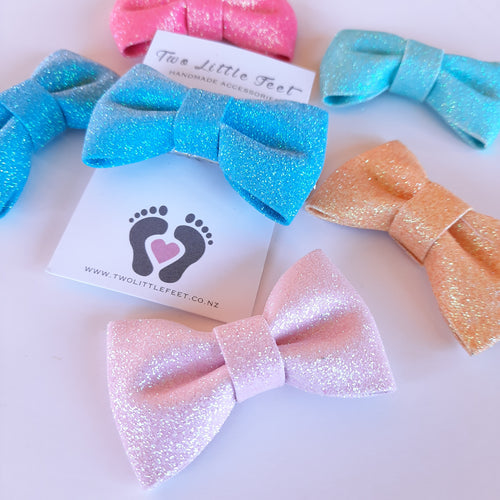 Glitter Hair Bows - Two Little Feet