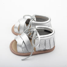 roman style summer sandals for a baby girl