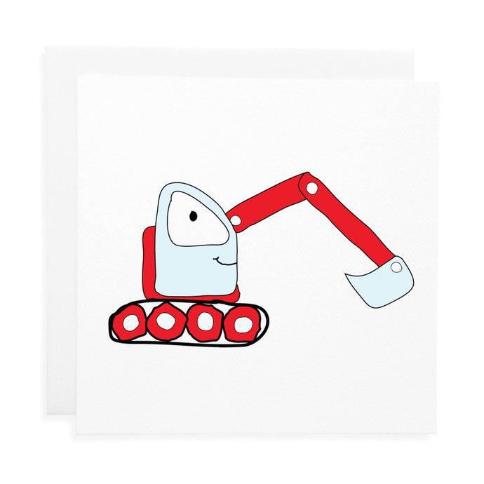 Digger Birthday Card - Two Little Feet