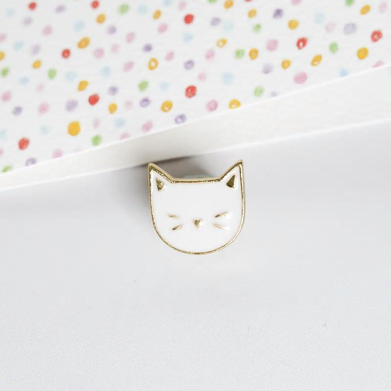 Cat Pin by Lauren Hinkley
