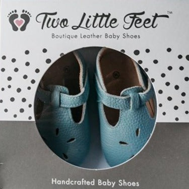 Daisy Blue Baby Shoes - Two Little Feet