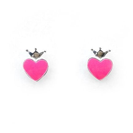 Pink Crown Earring by Lauren Hinkley