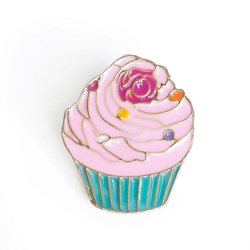 Cupcake Pin by Lauren Hinkley