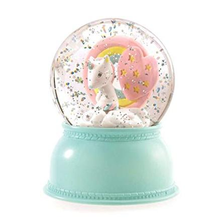 DJECO SNOW GLOBE NIGHT LIGHT UNICORN - Two Little Feet