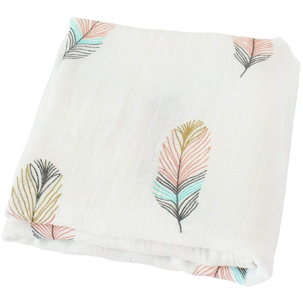 Feathers Baby Wrap Organic Cotton Swaddle Blanket