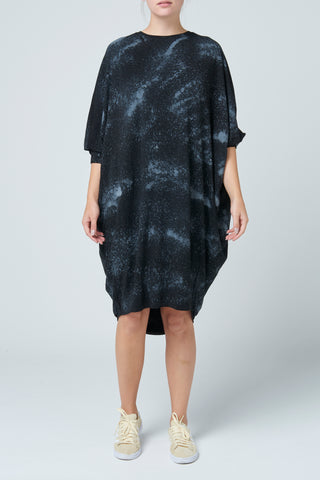 Black Tie Dye Slouch Dress