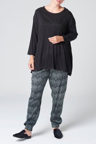 The Black Cupro Blouse