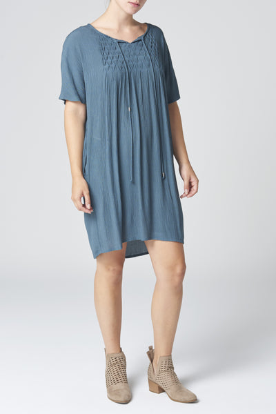 The Sage Green Crinkle Tunic Dress