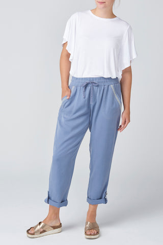 Blue Lyocell Pant