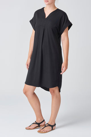Black Lyocell Stitch Dress