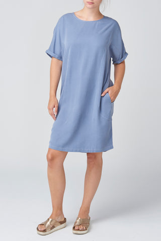 Blue Lyocell Dress