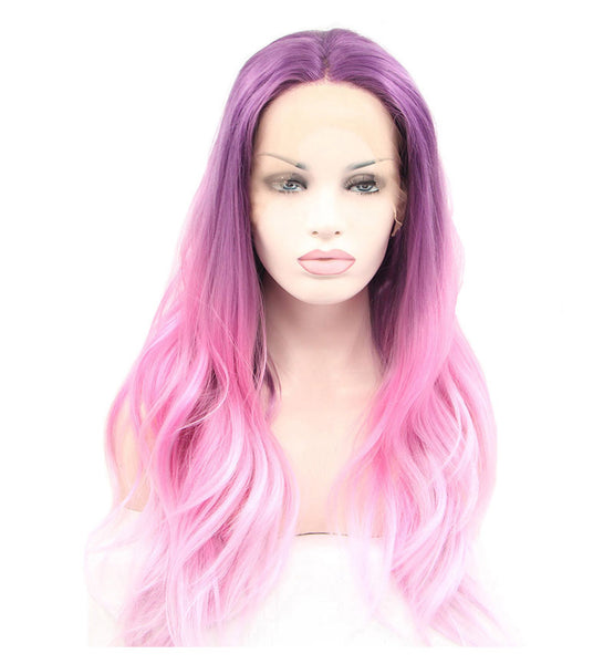 Luxe Synthetic Lace Front Wig Unicorn Pink