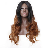 Luxe Synthetic Lace Front Wig Ombre Loose Wave Brown