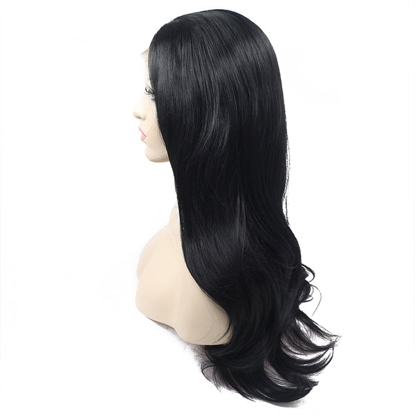 Luxe Synthetic Lace Front Wig Straight Black