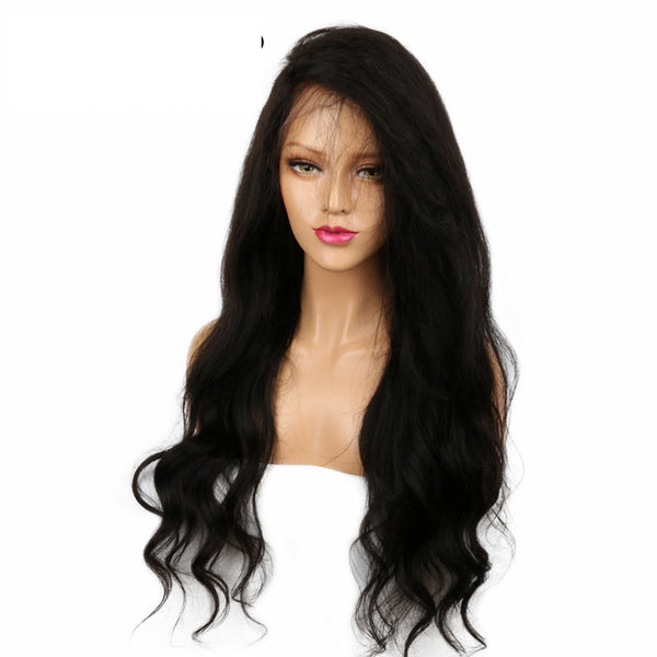 Luxe Synthetic Lace Front Wig Long Body Wave Black