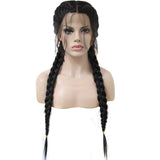 Luxe Synthetic Lace Front Wig Braided long