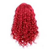 Luxe Synthetic Lace Front Wig Curly Red