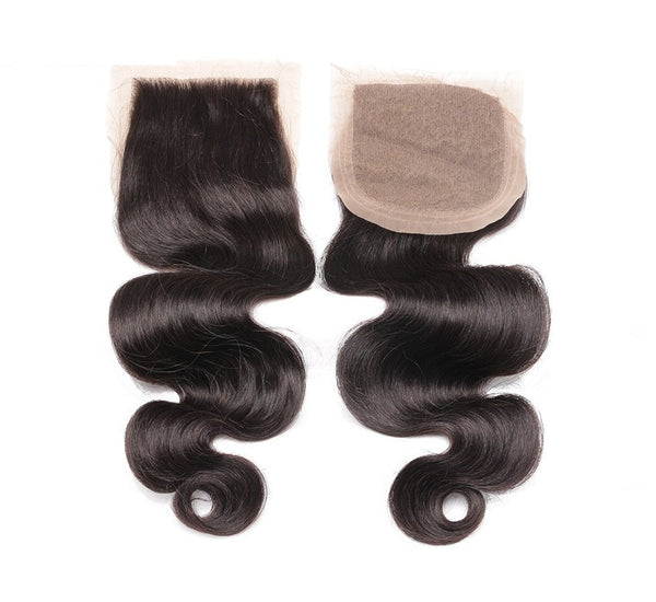 SILK BASE Lace Closure, 4 x 4 Loose Wave, Freestyle - Whitney Marie Hair