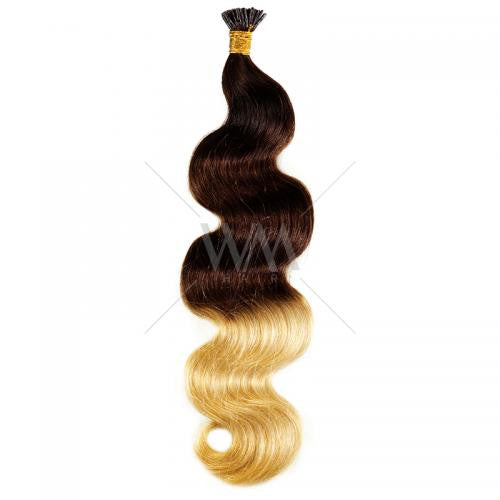 Stick-Tip Keratin Hair Extension #2/4/24 Body Wave - Whitney Marie Hair