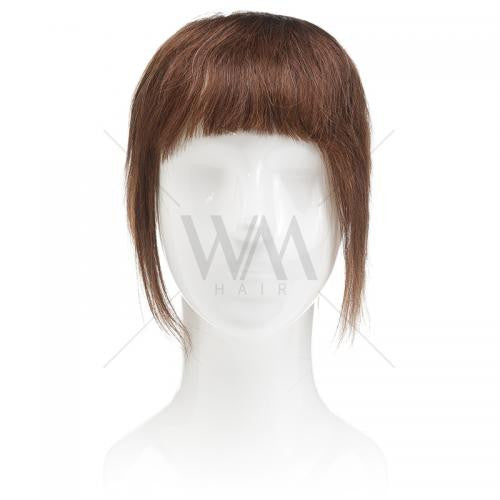 Instant Clip-in Fringe - Chocolate Brown #4 - Whitney Marie Hair