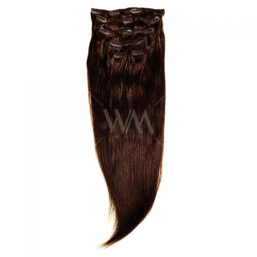Clip-in Hair Extension (Straight) #4 Chocolate Brown - Whitney Marie Hair