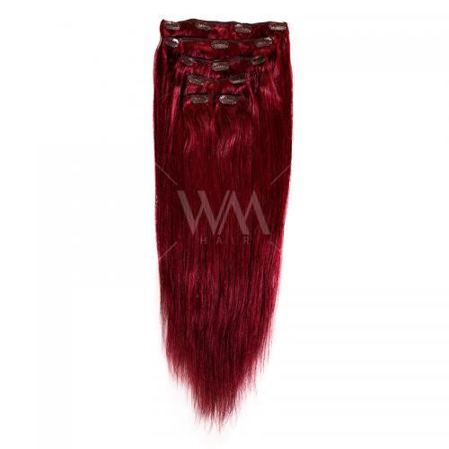 Clip-in Hair Extension (Straight) Burgundy - Whitney Marie Hair