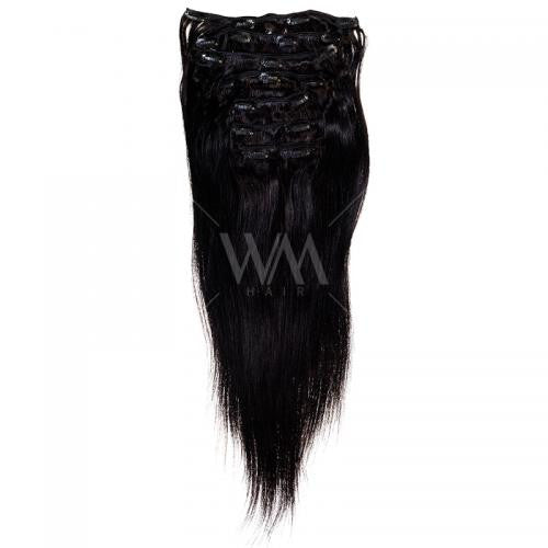 Clip-in Hair Extension (Straight) Natural Black #1B - Whitney Marie Hair