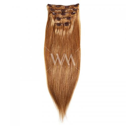 Clip-in Hair Extension (Straight) Light Brown 8 - Whitney Marie Hair