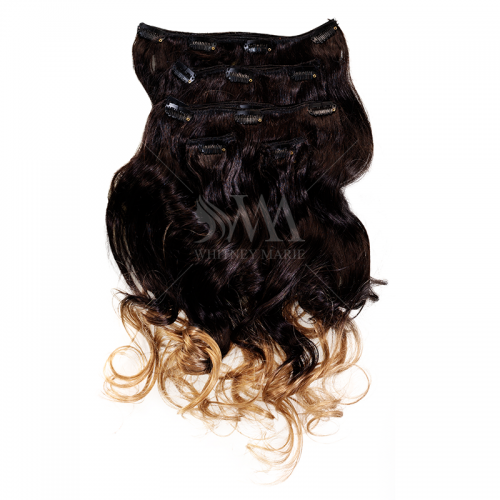 Clip-in Hair Extension Ombre 2/27 (Wavy) - Whitney Marie Hair