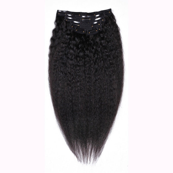 Kinky Straight Clip in Hair Extensions - Whitney Marie Hair