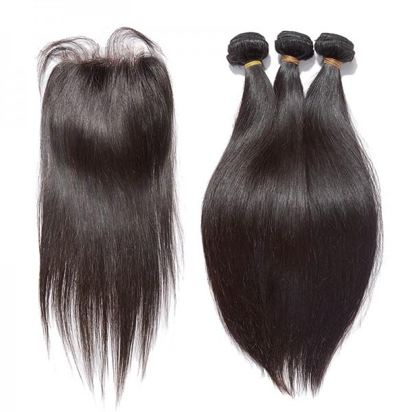 Brazilian Hair lace closure Wig - Straight - Whitney Marie Hair